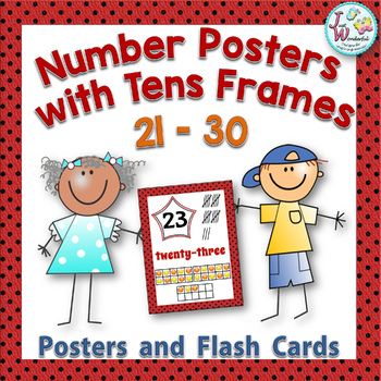 Numbers 21-30 Posters with Tens Frames Custom Order for Luanne