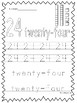 Numbers 21-30 Tracing Printable Worksheets in a PDF file ...