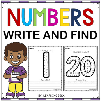 Number Worksheets (Find and Write)