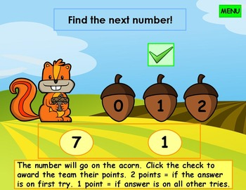 Number Order Kindergarten