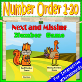 Fall Number Order 1-20 | Kindergarten Math Games | Number