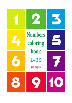 Numbers coloring book 1-10 for kids