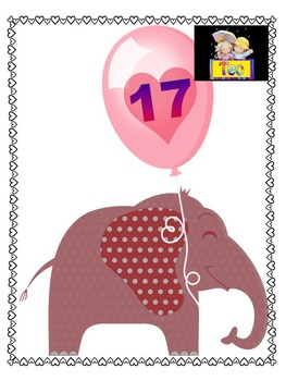Number Cards - Elephants - PowerPoint presentation - Clip Art - Back to School