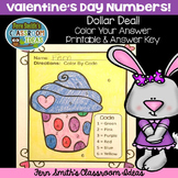 St Valentine's Day Dollar Deal Color By Numbers Know Your Numbers