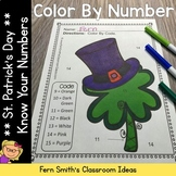 Color By Numbers St. Patrick's Day Know Your Numbers 1 - 15