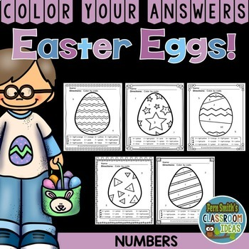 Color By Numbers Easter Eggs Numbers