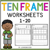 Ten Frames Worksheets-Ten Frame Activity