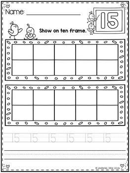 Ten Frames Worksheets-Ten Frame Activity