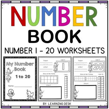 Number Recognition 1 20 Distance Learning Packet For Kindergarten