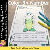 Color By Numbers Spring Bug Fun Know Your Numbers