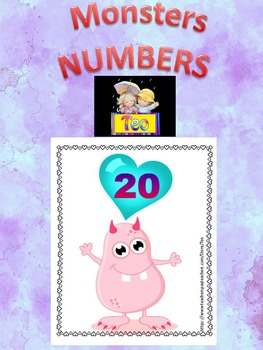 Monsters - Number Cards - Numbers - Clip Art - Back to school