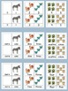 Spanish and English Words and Numerals on 3 Part Cards 0-5