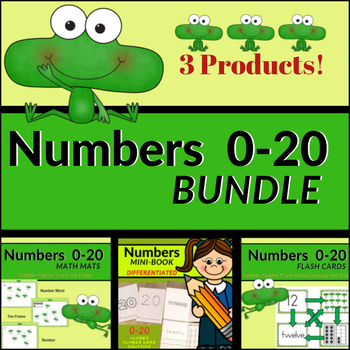 Numbers 3-in-1 BUNDLE (Zero to Twenty) - Differentiated