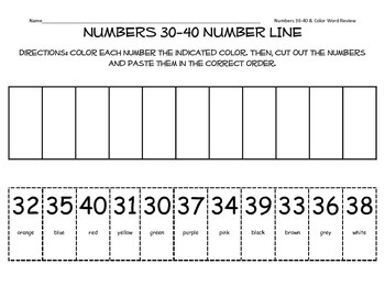 Numbers 30-40 Worksheets & Teaching Resources | Teachers Pay Teachers