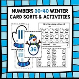 Numbers 30-40: Winter Cards and Activities (Place Value Bl
