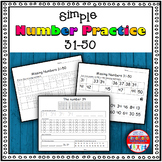 Number Sense Activity - Worksheets 31-50