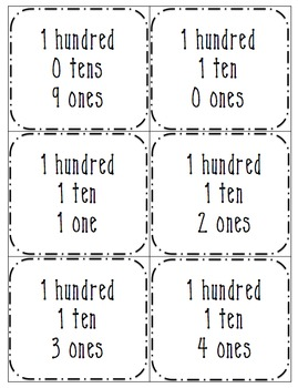 Numbers 4 Ways 0-120 (Number, Word, Base-10 Form, Expanded Form)
