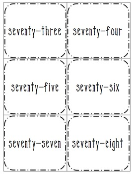 Numbers 4 Ways: 61-90