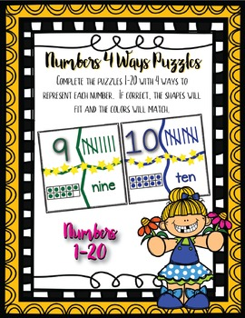 Numbers 4 Ways Puzzles- Self Correcting