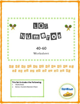 Numbers 40-60