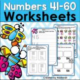 Numbers 41-60: Numbers To 60 Worksheets