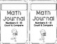 Numbers 6 - 10: Counting and Comparing Numbers Mini Math Journal