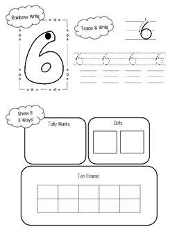 Numbers 6-10 Number Sense Book