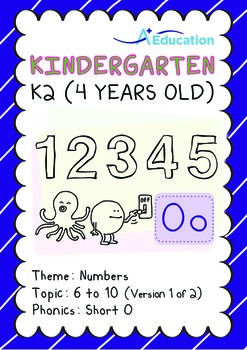 Numbers - 6 to 10 (I): Short O - K2 (4 years old), Kindergarten