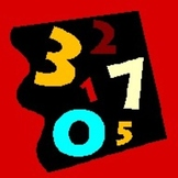 Numéros (Numbers in French) 60 to 99 Old time Concentration game
