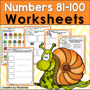 Numbers 81-100: Numbers To 100 Worksheets