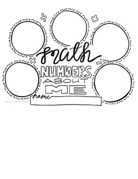 Numbers About Me Cover Page