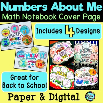 Numbers About Me Cover Page (4 designs)