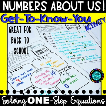 Numbers About Us Get to Know You Activity One Step Equations