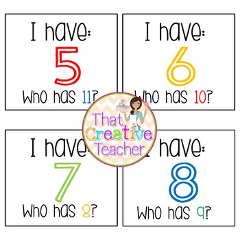 Numbers Activity