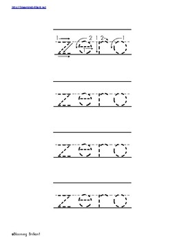 Numbers Activity Pack