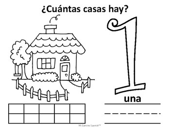Numbers Activity for Spanish Students! (1-10)