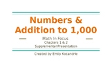 Numbers & Addition to 1,000 - Math in Focus Supplemental Lessons
