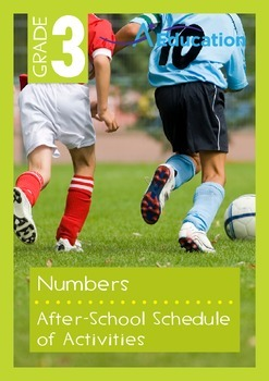 Numbers - After-School Schedule of Activities - Grade 3