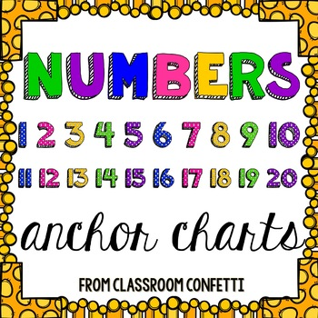 Numbers Anchor Charts {Numbers 1-20}