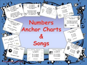 Numbers Anchor Charts and Songs