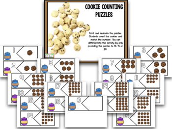 Cookie Counting With Ten Frames And Numbers