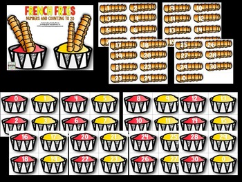French Fries!  Numbers And Counting to 30