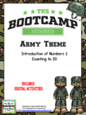 Numbers And Counting to 20! Number Bootcamp Army Theme