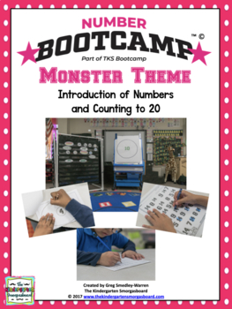 Numbers And Counting!  NUMBER BOOTCAMP 1-20  Monster Edition!