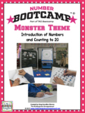 Numbers And Counting to 20! Number Bootcamp Monster Theme