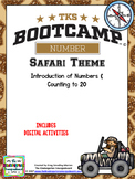 Numbers And Counting to 20! Number Bootcamp Safari Theme