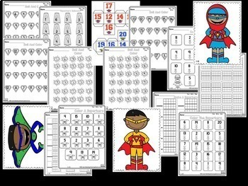 Numbers And Counting!  NUMBER BOOTCAMP 1-20  Superhero Edition!