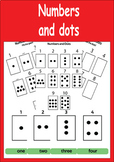 Numbers And Dots Poster with 10 Flashcards (1-10) and 6 Easy Worksheets