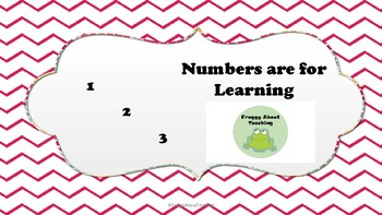 Numbers Are For Learning