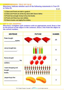Numbers - At the Bookstore - Grade 2